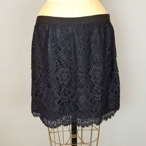 Lauren Conrad Black Lace Skirt Womens Size 2